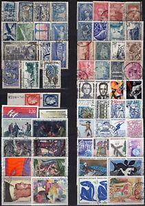 Francia-Lotto-di-62-francobolli-Usati