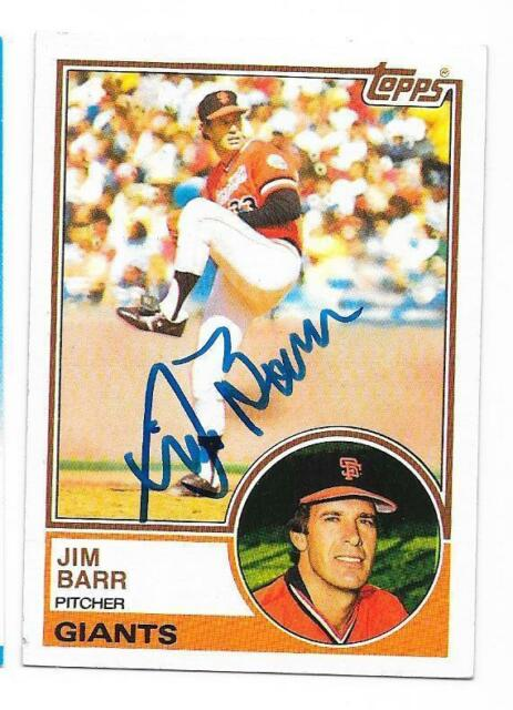 JIM BARR 1983 TOPPS AUTOGRAPHED SIGNED # 133 GIANTS