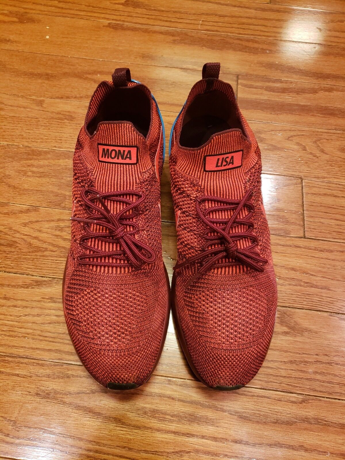 NIKE AIR ZOOM MARIAH FLYKNIT RACER ID SIZE 13 running shoe red