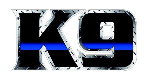 1PC K-9 Police Officer Sheriff Dog Thin Blue Line Law Enforcement Decal Decor MP