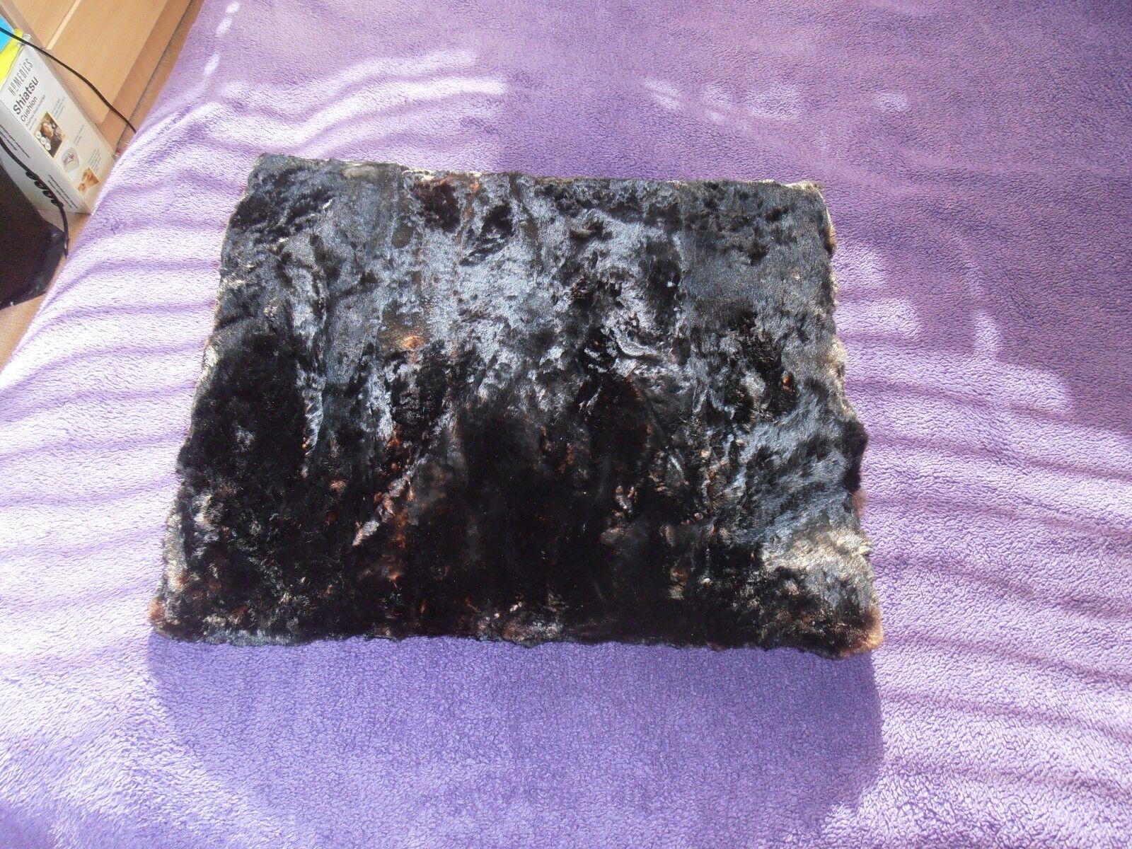 Edwardian Black Soft Sheared Fur Muff