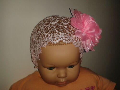 Baby Haarband Stirnband Rosa Blume Prinzessin Princess Spize