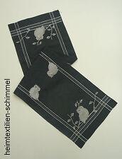STICKEREI Tischdecke Tischläufer EULE Tischdeckchen WINTER Deckchen Decke 40x140