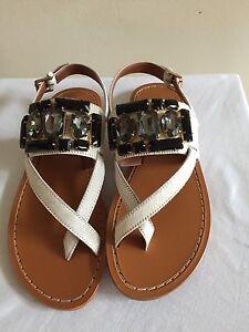 754901a0a New w o Box  530 MARNI Jeweled Calf Hair Toe Ring Sandals Shoes 39 9 ...