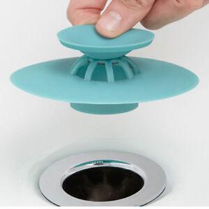 Gummi  Badewannen Stöpsel Waschbecken Stopfen Silikon Abfluss Küche Wasser