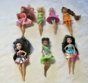 Disney-Fairies-Lot-7-Dressed-Tinkerbell-amp-Friends-5-034-Dolls