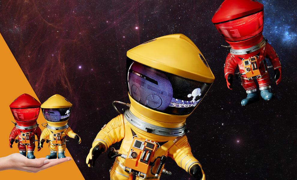 2001 Odissea nello Spazio Discovery Astronaut rot & Gelb Sideshow Star Ace Box