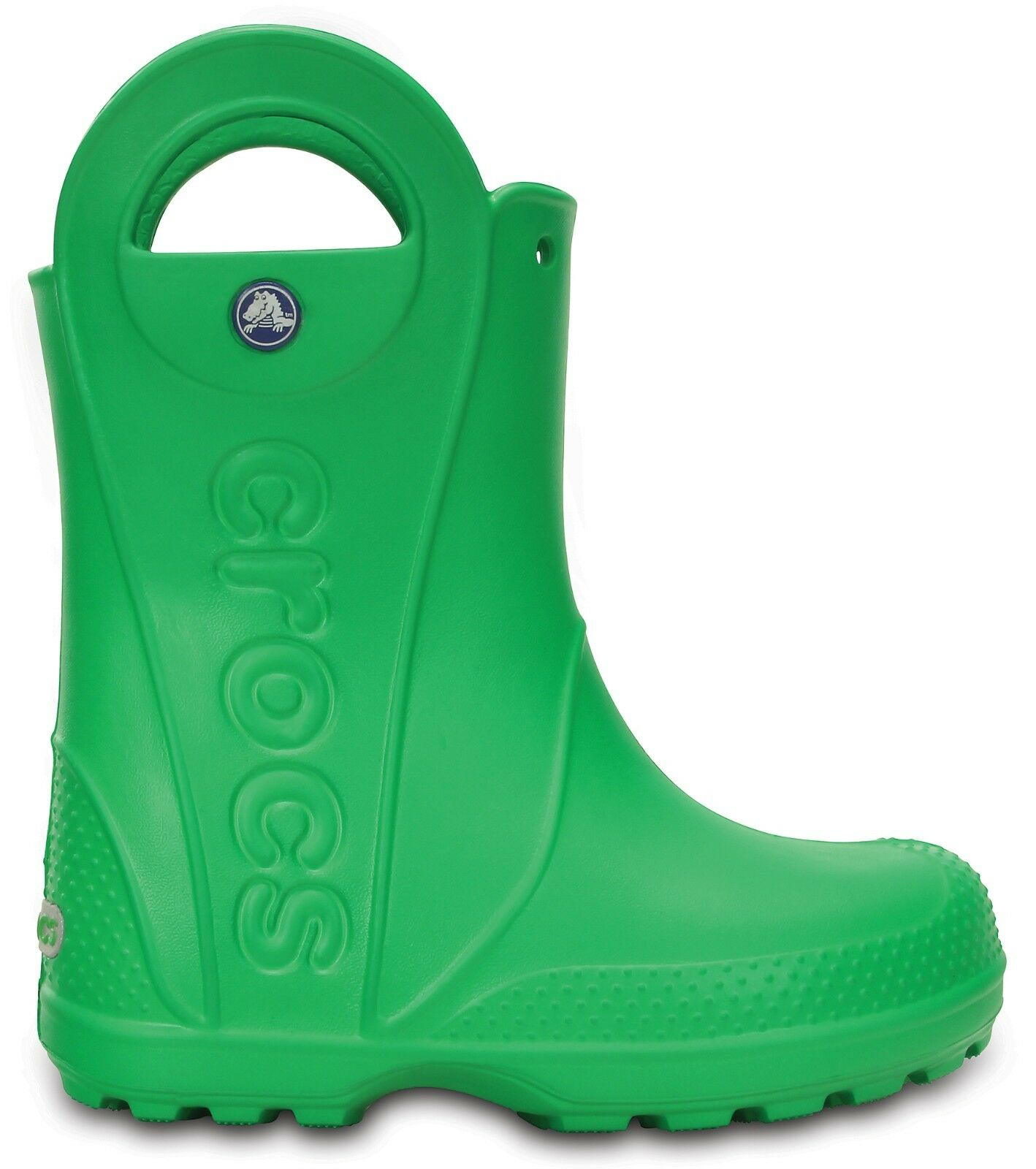 9b64c5791f746b Crocs Kids Handle It Rain Roomy Fit BOOTS Wellies in Wide Range of Colours 12803  Grass Green 12803 3e8 Child 12 887350426052