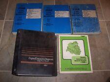 1988 Ford Mustang 5.0L Convertible Shop Workshop Shop Service Repair Manual Set