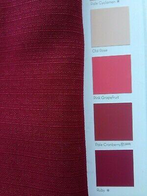 "By Meter Maroon Taffeta Silk Natural Slub Colour Curtain,Drape Fabric Indian 56/"""