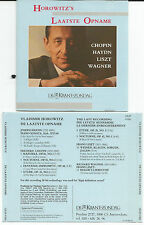 HOROWITZ`S - De Laatste Opname - CD 1991 SONY - Chopin/Haydn/Liszt/Wagner