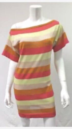 Missoni M dress size 4,6 multi colored stripes ora