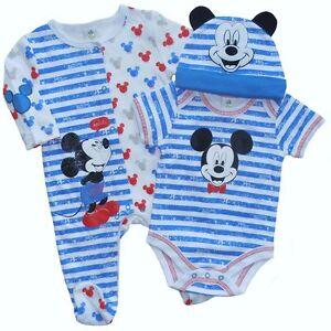 neu baby jungen micky maus strampler body m tze set 68 englandmode ebay. Black Bedroom Furniture Sets. Home Design Ideas