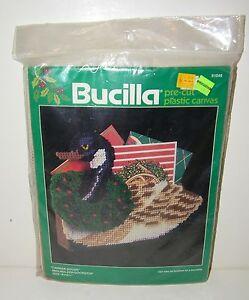 Bucilla-Needlepoint-Kit-Precut-Christmas-Card-Holder-Doorstop-Canada-Goose-61046