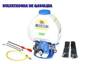 ATOMIZADOR PULVERIZADOR DE MOCHILA A GASOLINA MOTOR 2T 27cc SULFATADORA