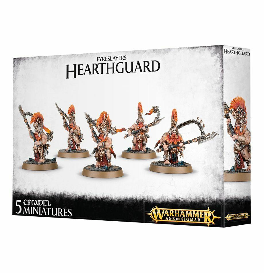 Warhammer Age of Sigmar  Fyreslayers Hearthguard GW 84-24 NIB