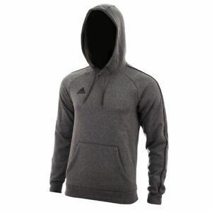 Détails sur Adidas Hommes CORE18 Capuche Pull Gym Capuche Polaire Gris