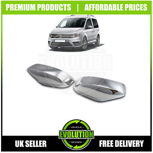 TO FIT FORD TRANSIT CONNECT 2015-2019  CHROME WING MIRROR COVERS SET OF 2