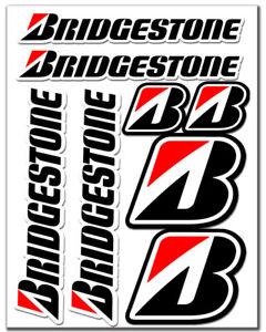 Set-8-PVC-Vinyle-Autocollants-Bridgestone-Pneus-Racing-Sticker-Voiture-Moto-Auto