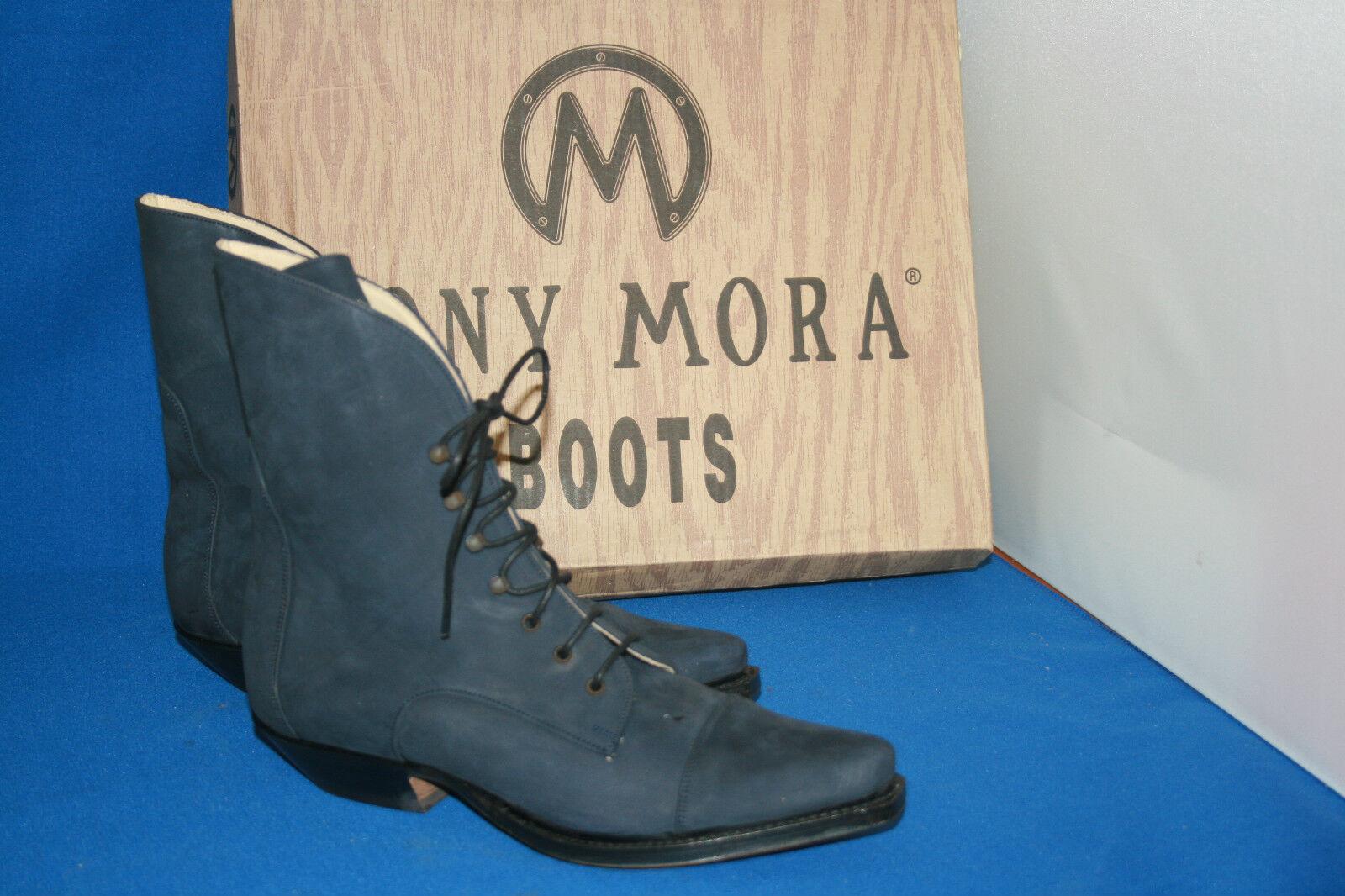 Tony Mora stiefelette blue westernstyle cowboystiefel boots gr. 38 neu  leder