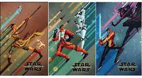 Star Wars The Force Awakens Disney DMR Poster Set of 3 - Exclusive 11x17