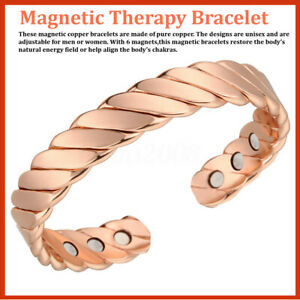 Bracelet-magnetique-Neodymium-Magnet-Therapy-Copper-Bangle-Pain-Relief-15000