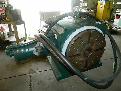 """12"""" High Performance / Hiperdex 360 4th Axis NC Rotary Table, w/ Motor, Used"""