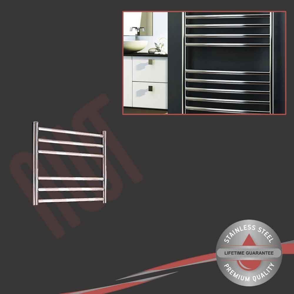 500mm (l) x 430 mm (h) en acier inoxydable poli porte-serviettes radiateur 624 BTU