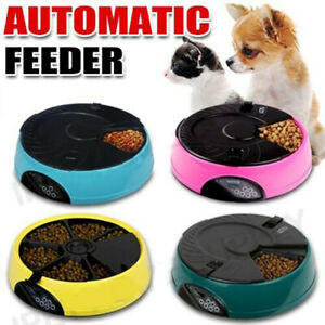 AUTO-Dog-Pet-Feeder-Dispenser-Food-Bowl-Cat-6-Meal-Automatic-Program-Digital-LCD