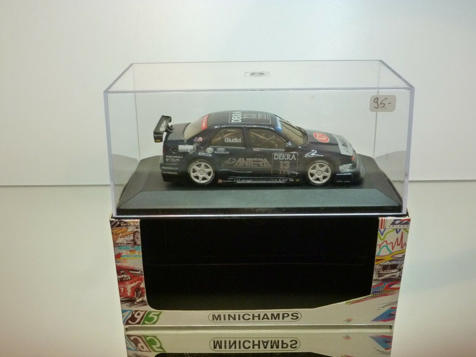 MINICHAMPS ALFA ROMEO 155 V6 DTM 1995 GIUDICCI  13 - bleu - GOOD  IN BOX