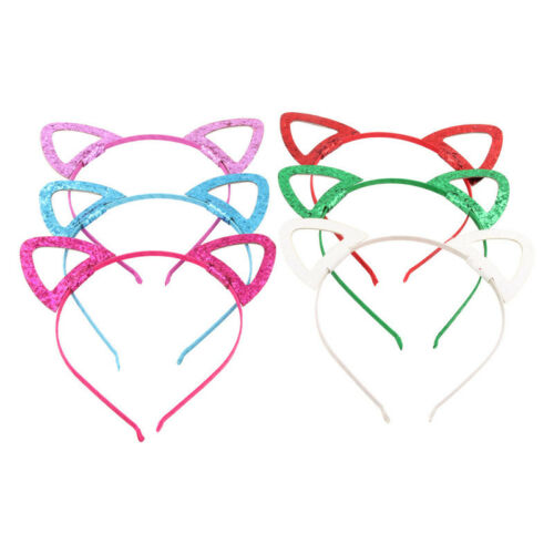 Baby Cat Ears Sequin Costume Headband Fashion Girls Hair Band Party Gift