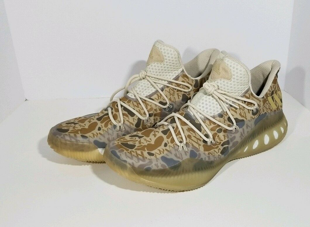 ADIDAS CRAZY EXPLOSIVE LOW GAUNTLET CAMO gold DA9713 BOOST MEN'S SIZE 17 NWOB