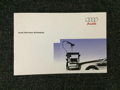 AUDI SERVICE BOOK PER Nuovo di Zecca tutti i modelli Benzina /& Diesel TDI TFSI a1 a2 a3 a4