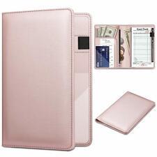 Server Book Organizer Zipper Pocket For Waitress Waiter Bartender Card Holder