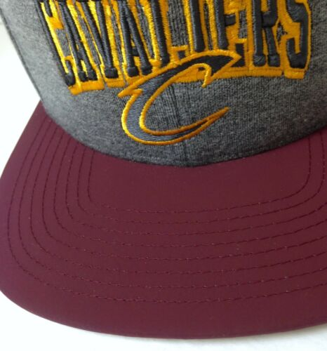 1 of 11Only 1 available  32 Mitchell Ness CLEVELAND CAVALIERS SNAPBACK HAT  Gray Maroon Flat Bill Cap MEN 5647fa1aa378