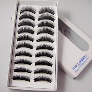 Black-20pcs-Makeup-Eyelashes-False-Eye-Lashes-Natural-Dense-Extension-nice-mei
