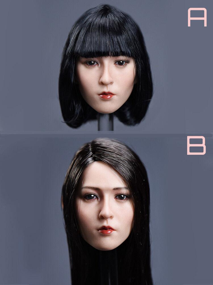 1 1 1 6 YMTOYS Asian Beauty Female Head Sculpt  Yun  Fit Phicen TBLeague H Suntan a6262b