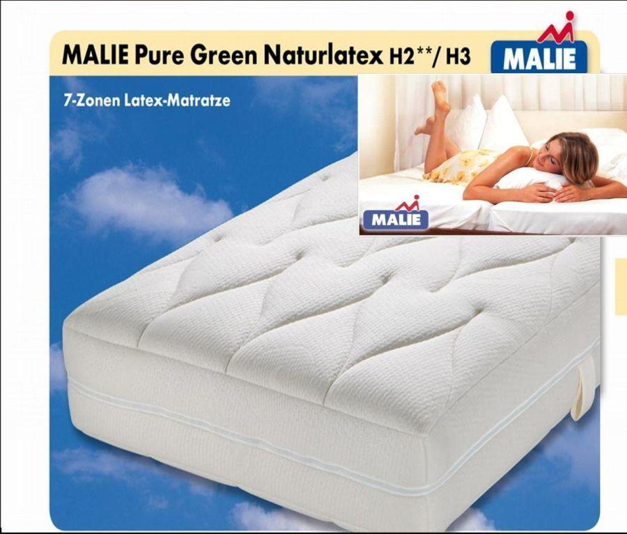 Matratze Malie Pure Grünaturlatex 7 Zonen Latex Matratze 140x200 H3