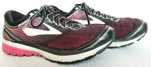 Brooks-Womens-Ghost-10-Black-Pink-Running-Athletic-Shoes-Sneakers-Size-9-5-Wide