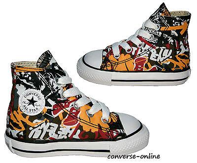 Baby Bambini Ragazzi Converse All Star Graffiti Sneaker Alte Stivali 19 Taglia UK 3