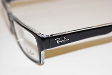 RAYBAN  EYEGLASSES  5169  CRYSTAL  BLACK  2034 52MM EYE  AUTHENTIC  NEW/CASE