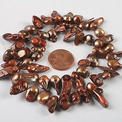 """15""""  freshwater blister pearl loose beads w059"""