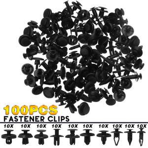 100Pcs-Rivets-Fixation-Clips-Plastique-Pare-chocs-Pare-boue-Porte-Agrafe-Voiture