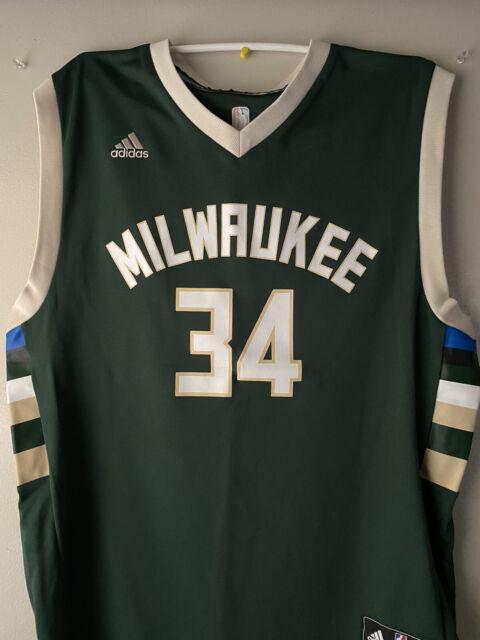 Giannis Antetokounmpo Adidas Milwaukee Bucks Jersey (L)   eBay
