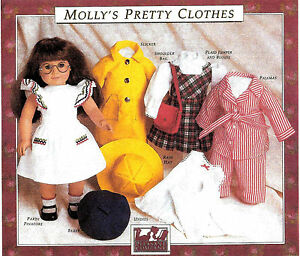 MOLLY-039-S-PRETTY-CLOTHES-PATTERN-PLEASANT-COMPANY-AMERICAN-GIRL-1990-NEW-SEALED