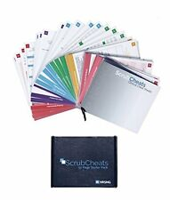 Laminated Nursing Reference Card Sheets 50 Full Color Pocket Sized Hospital Tool