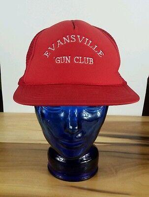 Vintage Evansville Indiana Gun Club Trucker Hat Cap Snapback NRA Shooting