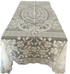 Mediterranean-Style-White-Fresh-Cotton-Crochet-Bed-Cover-Tablecloth-or-Throw