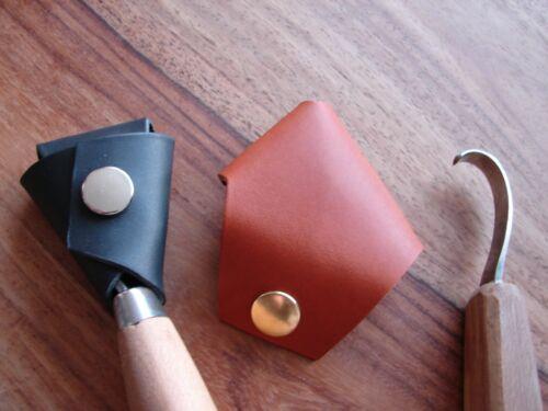 Cuir cuillère couteau Cover-Handmade Mora Crook gaine//Pochette