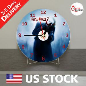NEW Joker Batman CD Clock Unique Decor Idea for Home USA